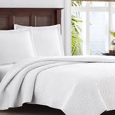 amazoncom tommy bahama white chevron quilt set king white