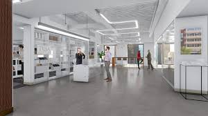 productive office space. socalled well buildings include features such as indirect circadian lighting systems to mimic productive office space