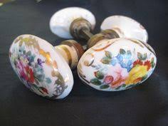 antique porcelain door knobs. Perfect Antique Set Of 2 Antique French Hand Painted Floral Porcelain Door Knobs Stems  1900u0027S  EBay With
