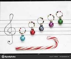 Weihnachten Dekoration Kugeln Sind Auf Ein Stück Papier Wie