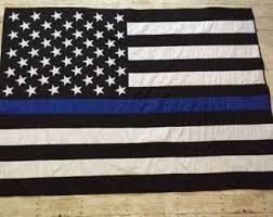 Best 25+ American flag blanket ideas on Pinterest | Flag quilt ... & Thin Blue Line American Flag Quilt Police Officer by ZabesQuilts Adamdwight.com