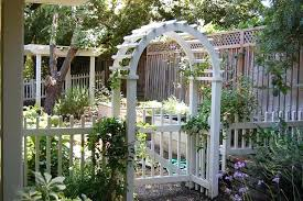 picket fence gate with arbor. White Garden Arbor With Gate Picket Fence Trellis T
