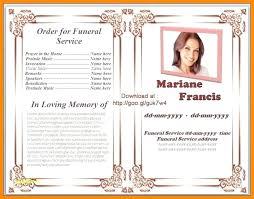Free Funeral Program Templates Download Awesome Free Funeral Order Of Service Template Word Memorial Program