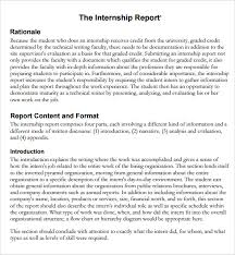 report writing format template how to write a nonfiction essay 6 sample internship report sample example format