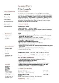 Resume Objective Sales Associate Fascinating ⛉ 48 Retail Resume Skills