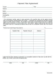 Payment Plan Template Medical Office Payment Plan Template Arrangement Agreement