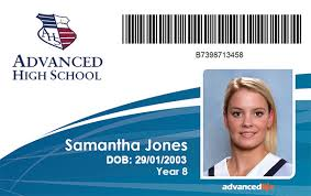 School Id Template Id Cards Advancedlife School Photography And Print Specialists