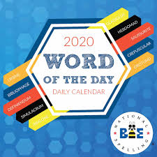 Word 2020 Calendars Word Of The Day Desk Calendar 2020