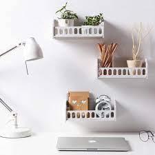 OTHERHOUSE oturma odası duvara monte raf beyaz ekran depolama rafı yatak  odası masa üstü organiser süs tutucu ev dekorasyon|Storage Baskets