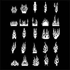 カッティングシールのデザインファイヤーパターン