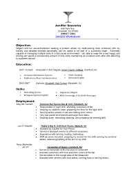 Resume Objective Statement For Customer Service Sample Objectives