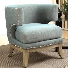 nailhead trim accent chair. Brilliant Nailhead Luxenberg Mid Century Modern Barrel Back Design Soft Blue Accent Chair With Nailhead  Trim On E