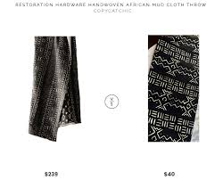 restoration hardware handwoven african mud cloth throw 239 vs vintage african mud cloth 40