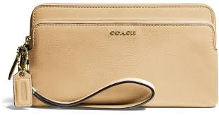 Lyst - Coach Madison Leather Double Zip Wallet in Metallic