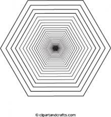 Adult Coloring Hexagon Black Hole 3d Design Coloring Pages 3d