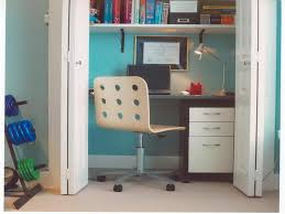 small closet office ideas. Closet Office Desk \u0026 Storage : Home Organization Ideas With Small G