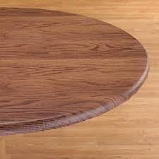 woodgrain elastic round table cover
