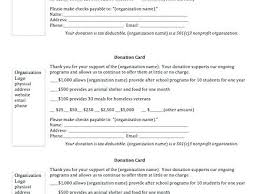 Donation Pledge Card Template Monster Free For Resume Download