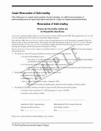 Mou Business Partnership Agreement Template New Memorandum Agreement ...