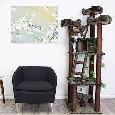 Redwood 75 inch Dark Brown Cat Tree Furniture Free Shipping