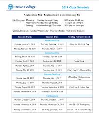 Academic Calendar Mentora College