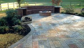 backyard stamped concrete patio ideas with
