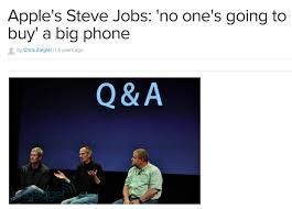 Samsung Quote Unique Samsung Invokes Steve Jobs Quote To Rain On Bigger Than Bigger