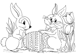 Free Easter Bunny Coloring Pages To Print At Getdrawingscom Free