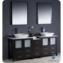 72 inch double sink vanity. fresca torino (double) 72-inch espresso modern bathroom vanity with vessel sinks 72 inch double sink