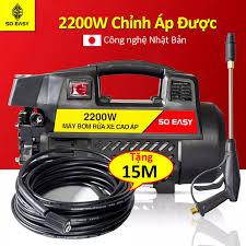 Máy xịt rửa xe mini cao áp gia đình - may rua xe 2200w - máy rửa xe