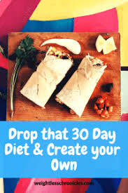 30 Day Healthy Eating Plan Drop That 30 Day Diet And Create Your Own Weightless