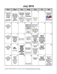 July Calendar 2015 Richland Wilkin Kinship
