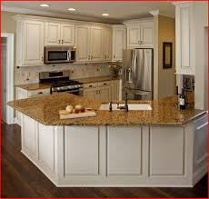Brown Granite Kitchen Brown Kitchen Cabinets With White Countertops Home Design Ideas