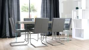 modern grey dining table modern grey leather dining chair matched with elegant white modern dining table