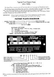 Ford Vin Decoder Chart 1949 To 1953 Ford Passenger Car Vin Decoding Chart