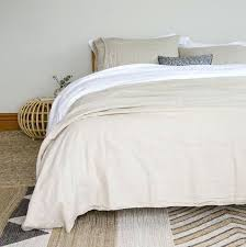 stonewashed linen duvet cover belgian tipped natural