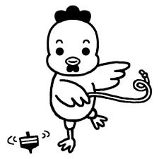 20 1とり酉鳥無料年賀状イラスト1ポイント干支素材