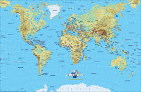 map of world physical (small version)  map in the atlas of the