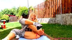 Teen Blonde Masturbate Outdoor