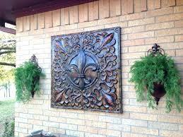 outdoor wall decor ideas garden ridge metal outside designs images art for bedroom diy