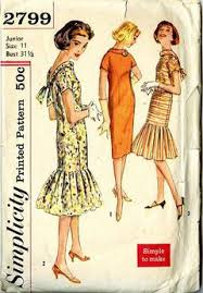 Mermaid Dress Pattern Simple Vintage Pattern Warehouse Vintage Sewing Patterns Vintage Fashion