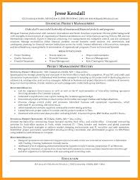 Back Office Resume Sample Project Manager Resume Financial Project