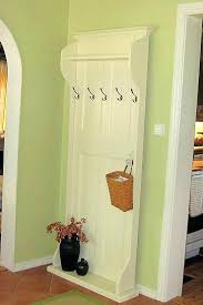 Old Door Coat Rack And Bench Delectable Hall Trees Made Out Of Old Doors A Different Bench Made From An Old