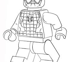 Small Picture Lego Spiderman Coloring Pages Best Coloring Pages