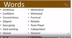 Describe Yourself In 3 Words Friskila English Course Describe Yourself In One Word