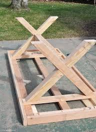 best 20 diy outdoor table ideas on outdoor wood table design of diy garden table