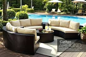 outdoor sectional sofa canada patio furniture circle design sofas round curved circular covers for best