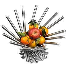 Decorative Metal Fruit Bowls Stainless Steel Fruit Bowl Basket Chrome Decorative Kitchen 37