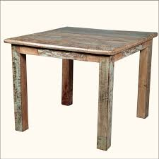 rustic square dining table. rustic distressed reclaimed wood dining table with square shape design -