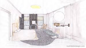 Decoration Interior Design Bedroom Drawings With Drawing Room